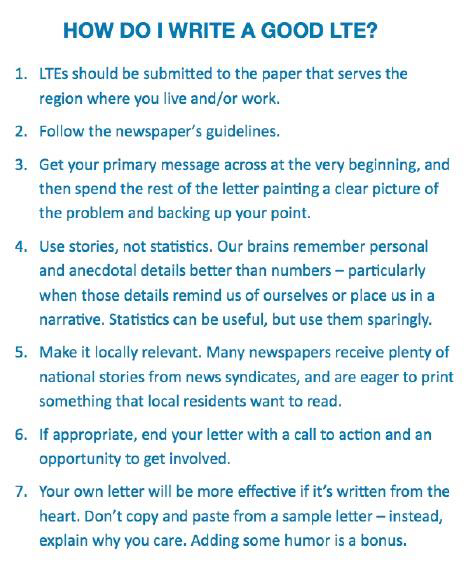 Tips on How to Write a Good Letter to the Editor
